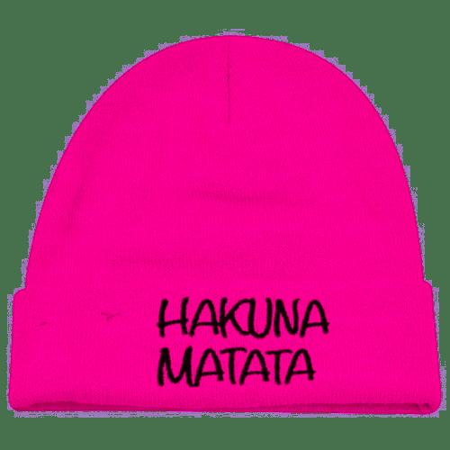 Lion King Hakuna Matata Hot Pink Cuff Beanie