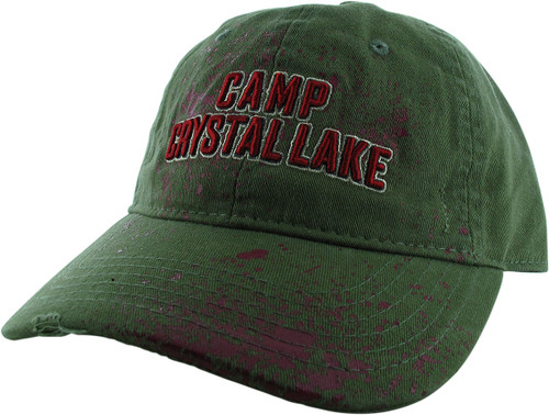 Friday the 13th Camp Crystal Lake Olive Buckle Hat