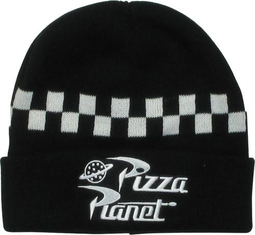Toy Story Pizza Planet Logo Black Cuff Beanie
