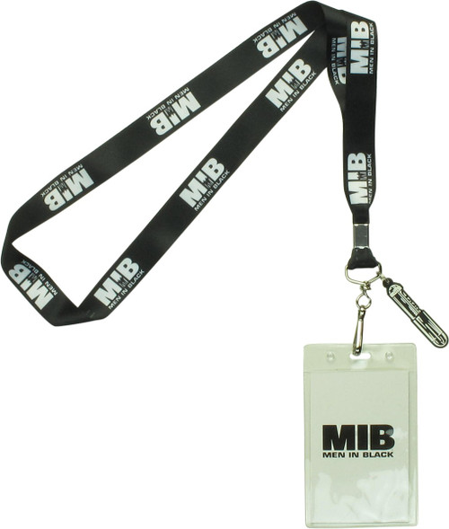 Men in Black Name Logo Black Lanyard
