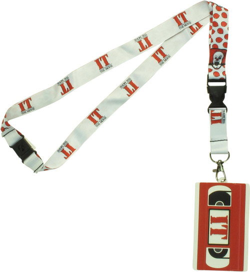 It the Movie Pennywise VHS Tape ID Holder Lanyard