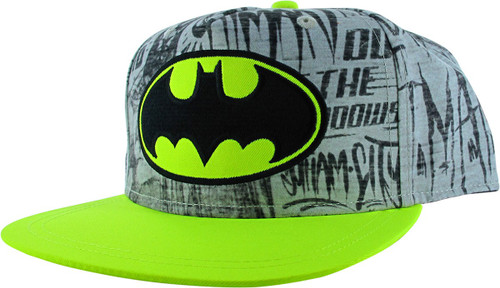Batman Logo Graffiti Quotes Snapback Youth Hat