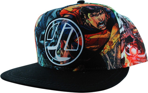 Justice League JL Heroes Panel Snapback Youth Hat