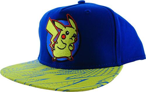 Pokemon Pikachu Lightning Bolts Snapback Youth Hat