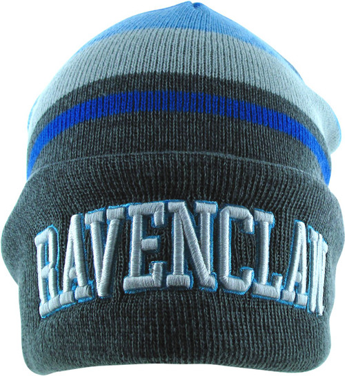 Harry Potter Ravenclaw Name Stripe Cuff Beanie