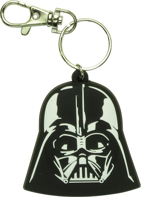 Star Wars 3D Darth Vader Helmet Rubber Keychain