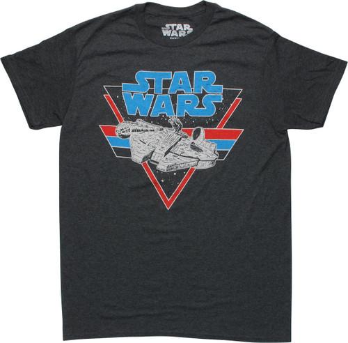 Star Wars Millennium Falcon Vintage Gray T-Shirt