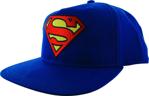 Superman Classic Logo Blue Snapback Youth Hat