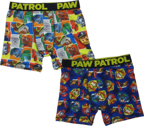 Paw Patrol Pups and Names 2 Pack Boys Boxer Briefs