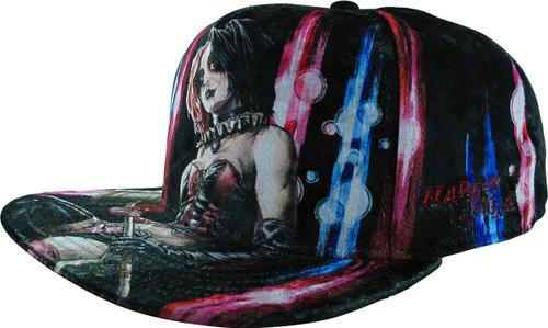 Harley Quinn Hammer Velvet Snapback Hat