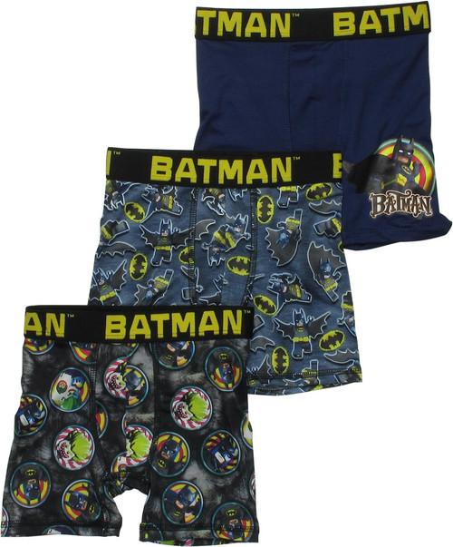 Lego Batman Hero Villains 3 Pack Boys Boxer Briefs