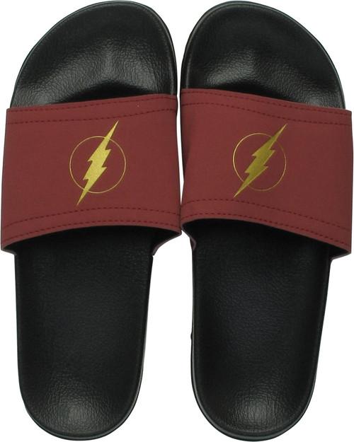 Flash Logo Black Slide Sandals