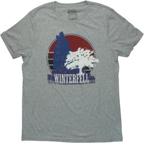 Game of Thrones Weirwood Winterfell Big T-Shirt