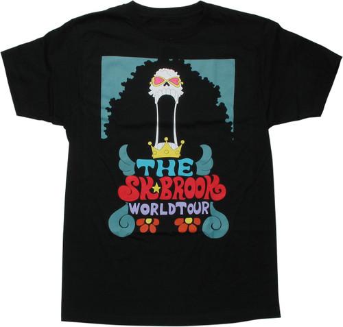 One Piece SK Brook World Tour Black T-Shirt