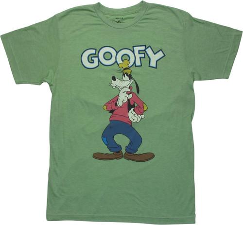 Goofy Thinking Heathered Green T-Shirt