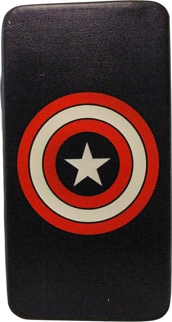Captain America Shield Logo Navy Clutch Wallet