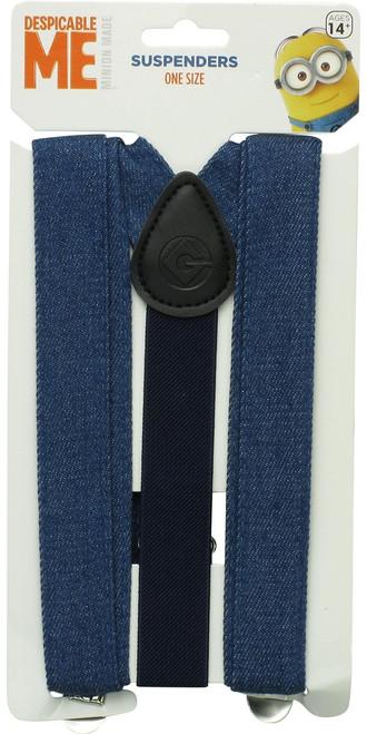 Despicable Me Minion Blue Denim Suspenders
