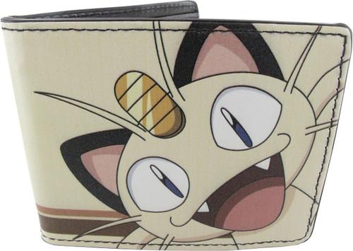Pokemon Meowth Close Text Stripe Wallet