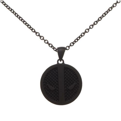 Deadpool Mask Logo Black Necklace