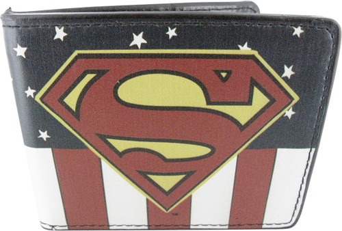 Superman Logo Stars Stripes Wallet