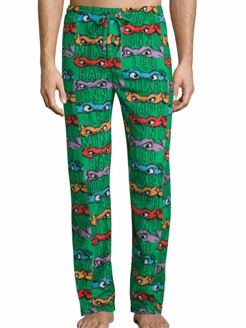 Ninja Turtles Faces and Names Lounge Fleece Pants