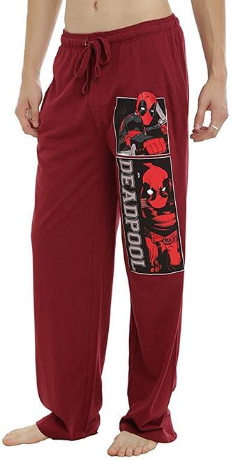 Deadpool Panels Burgundy Red Lounge Pants