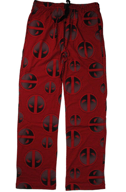 Deadpool Logos Dots Allover Print Lounge Pants