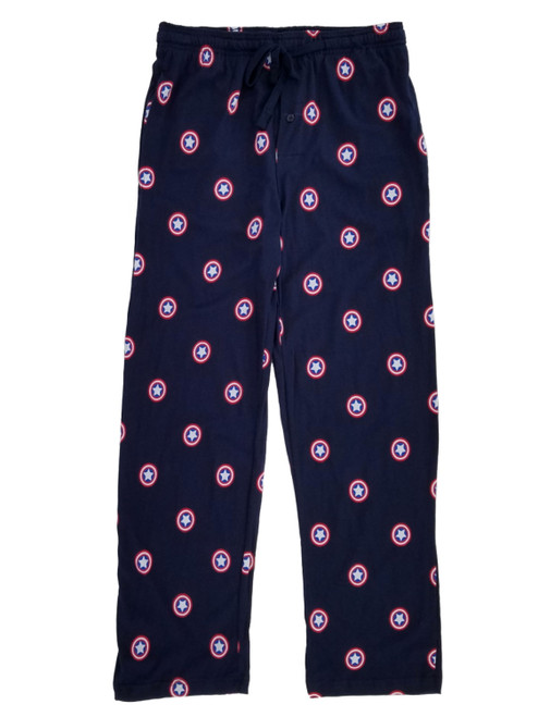 Captain America Logos Allover Print Lounge Pants
