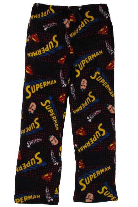 Superman Face and Name Plush Lounge Pants