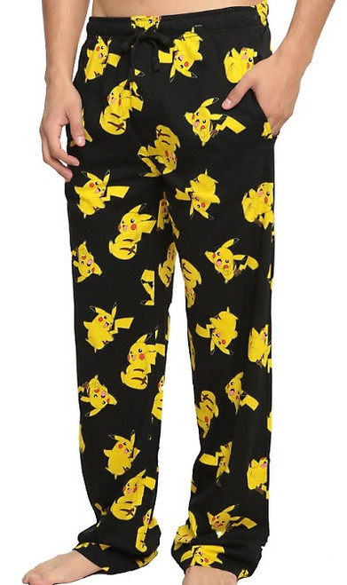 Pokemon Pikachu Allover Print Black Lounge Pants