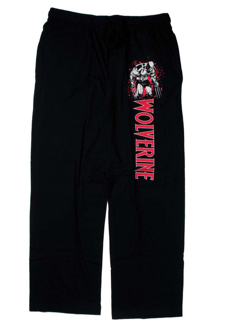 X Men Wolverine Name Black Lounge Pants