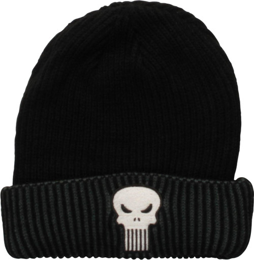 Punisher Logo Reversible Cuff Beanie