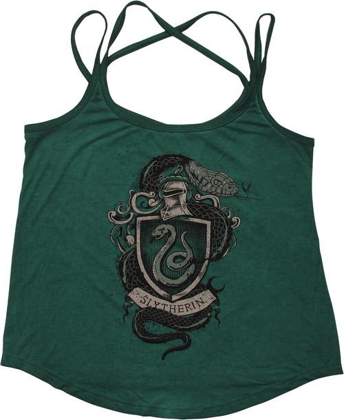 Harry Potter Slytherin Insignia Juniors Tank Top