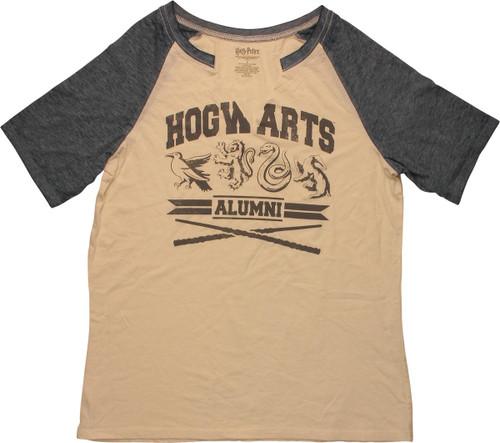 Harry Potter Hogwarts Alumni Raglan Juniors T-Shirt