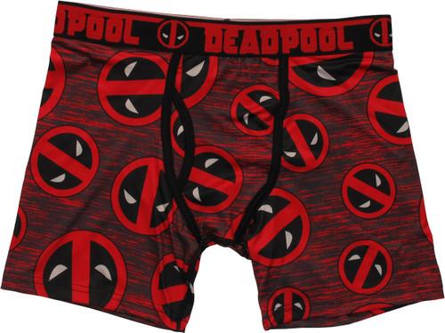 Deadpool Logos Allover Print Boxer Briefs