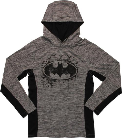 Batman Logo Hooded Long Sleeve Youth T-Shirt