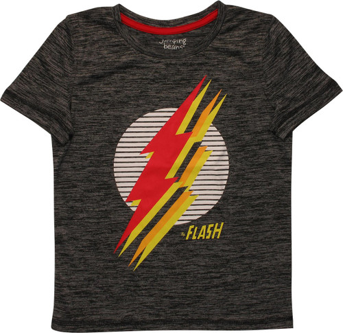 Flash Multi Stacked Logos Active Juvenile T-Shirt
