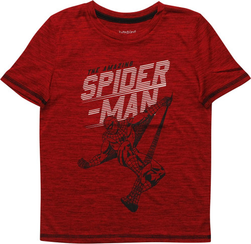 Amazing Spiderman Web Pose Active Juvenile T-Shirt