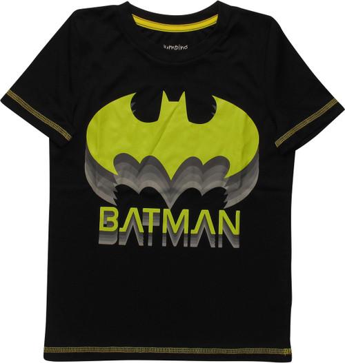 Batman Stacked Logos Name Active Juvenile T-Shirt