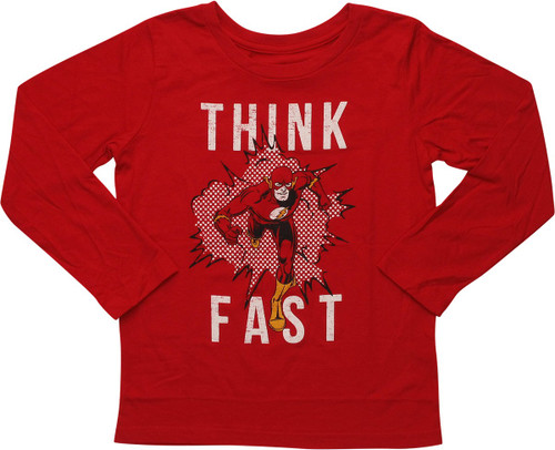Flash Think Fast Distressed LS Juvenile T-Shirt