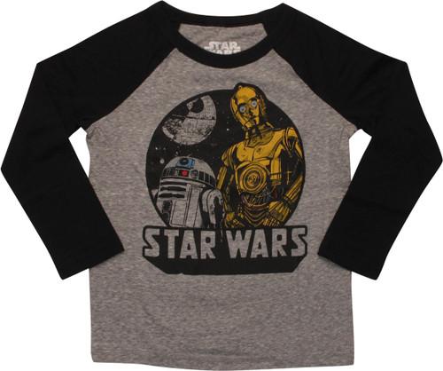 Star Wars Droids Death Star LS Toddler T-Shirt