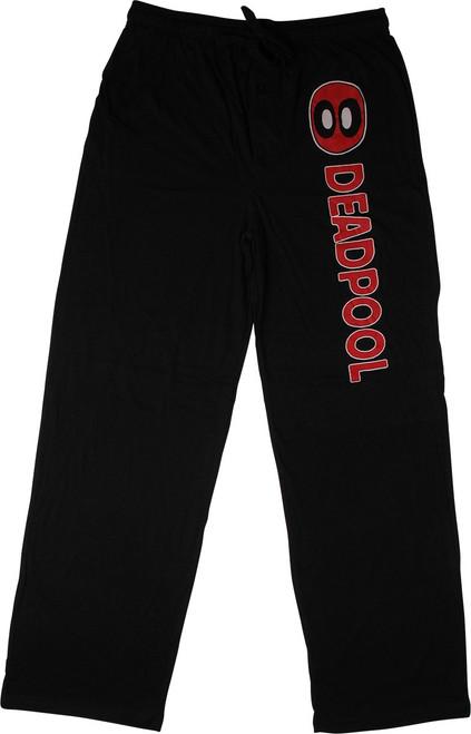 Deadpool Logo Name Black Lounge Pants