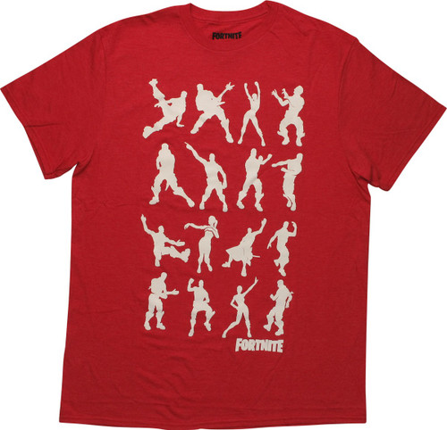 Fortnite Dance Silhouettes Red T-Shirt
