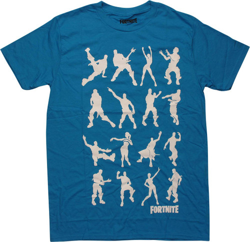 Fortnite Dance Silhouettes Turquoise T-Shirt