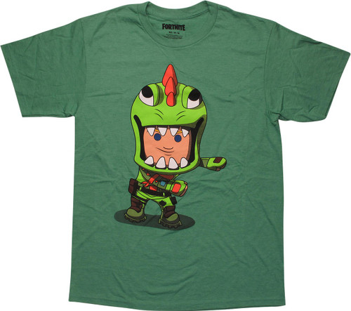 Fortnite Flossing Rex Green T-Shirt