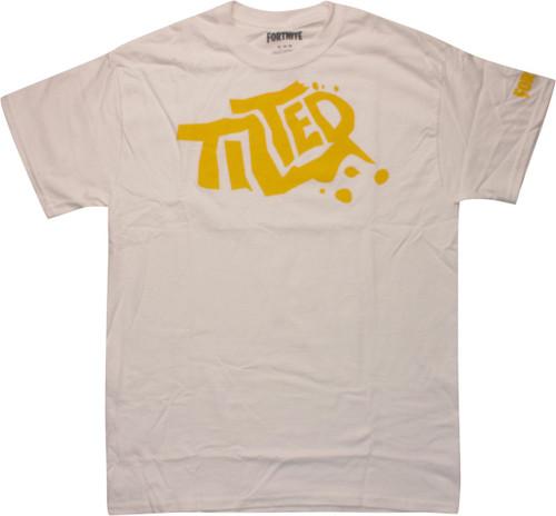Fortnite Yellow Tilted Logo White T-Shirt