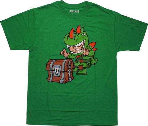 Fortnite Rex Treasure Loot Green T-Shirt