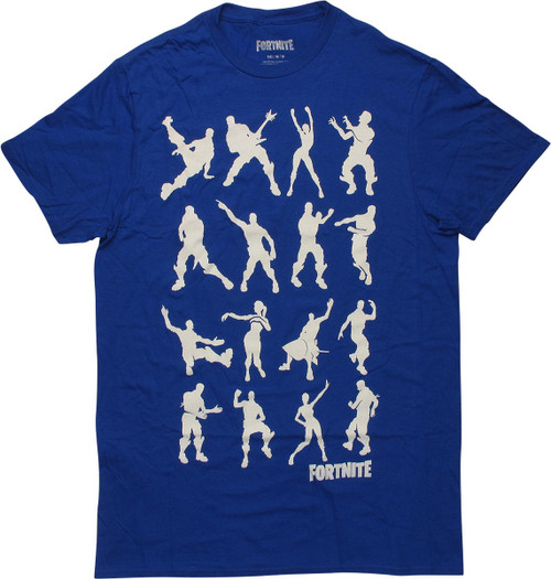 Fortnite Dance Silhouettes Blue T-Shirt