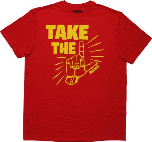Fortnite Take the L Red T-Shirt