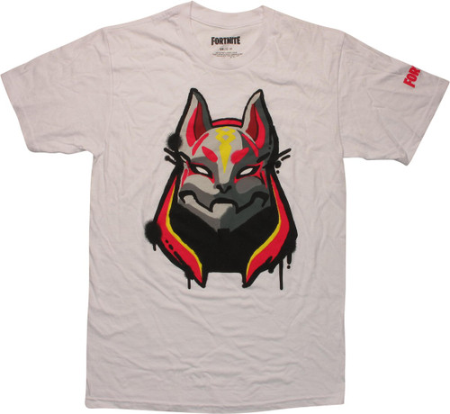 Fortnite Drift Mask White T-Shirt